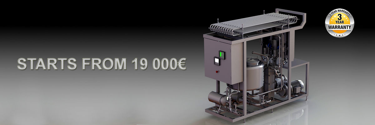 premium egg pasteurizer with integrated filler machine